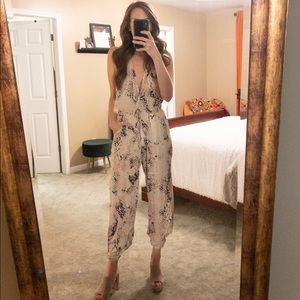 Mauve Python Jumpsuit w/Low Open Back - Small